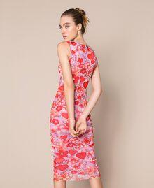 Floral tulle sheath dress Reve / Rose Print Woman 201TQ201F-03