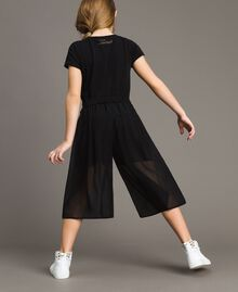 Georgette cropped trousers Black Child 191GJ2091-03