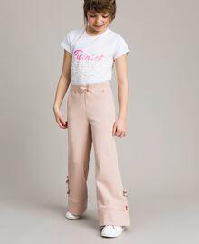 Pantalon palazzo avec nœuds Rose En fleur Enfant 191GJ2033-0S