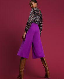 Jupe-culotte avec plis et logo Violet Femme 192ST2164-03