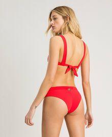 """Bügel-Bikinitop mit Stickereien und Strass """"Framboise"""" Rot Frau 191LMMR55-03"""