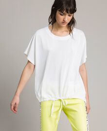 T-shirt con coulisse Bianco Donna 191LL23GG-01