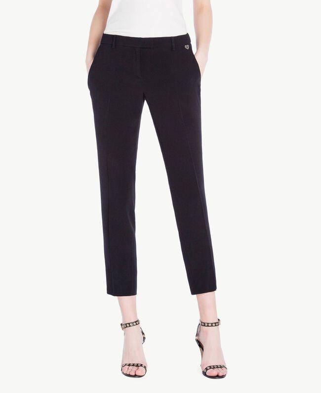 Cady drainpipe trousers Black Woman PS829B-01