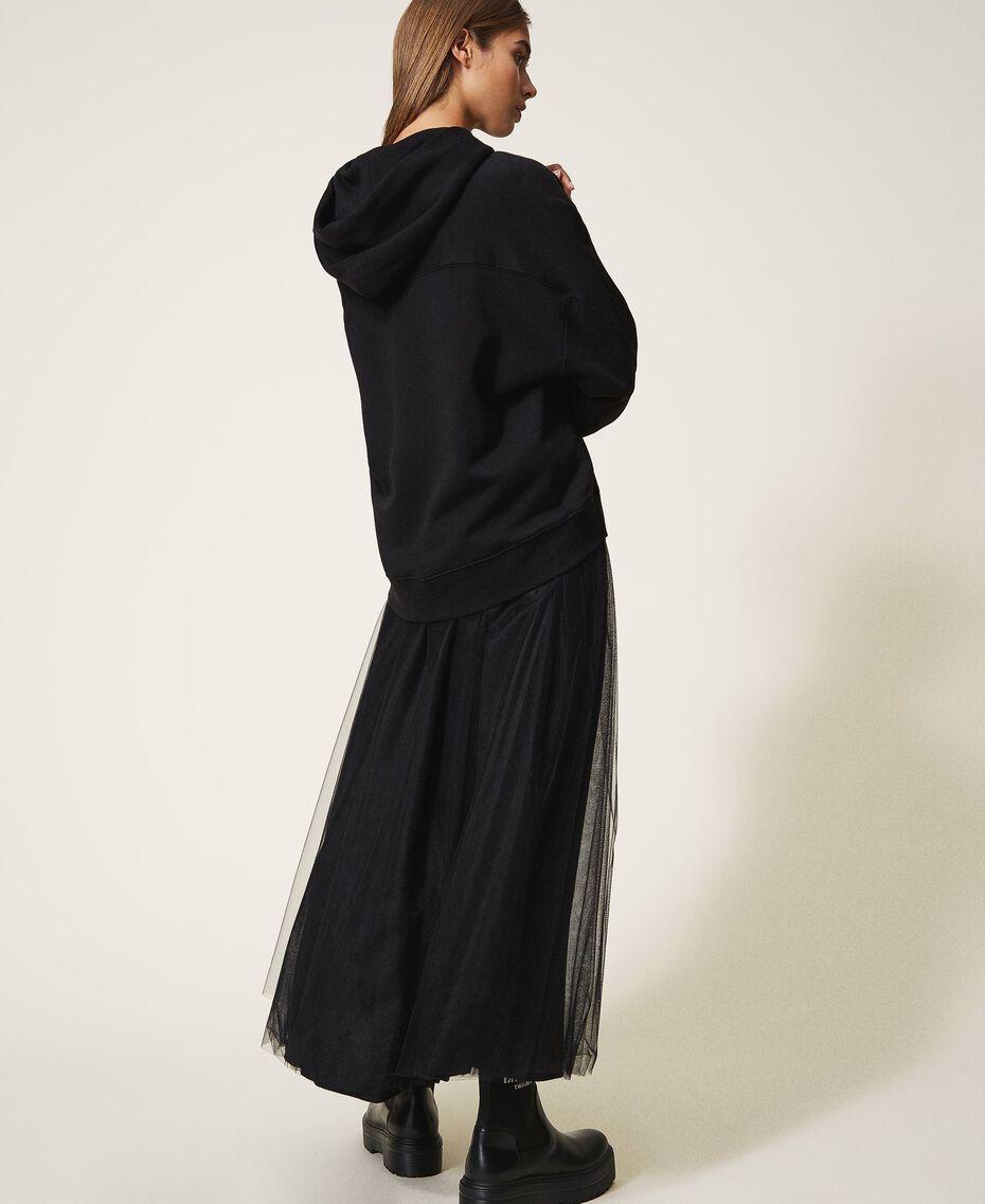 Sweatshirt mit Sticklogo Schwarz Frau 202TT2480-03