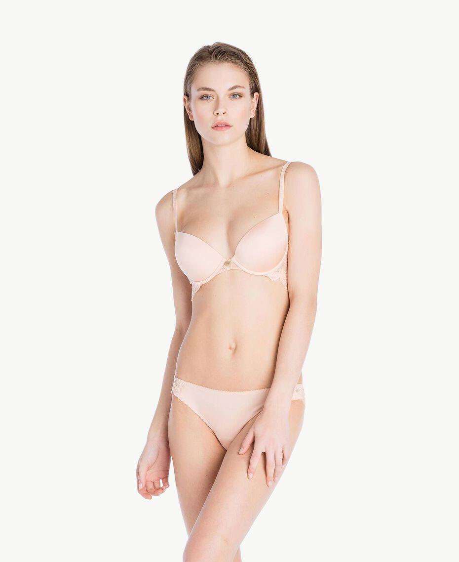 Soutien-gorge push-up dentelle (bonnets B) Rose «Pêche Poudré» Femme LS8C33-03
