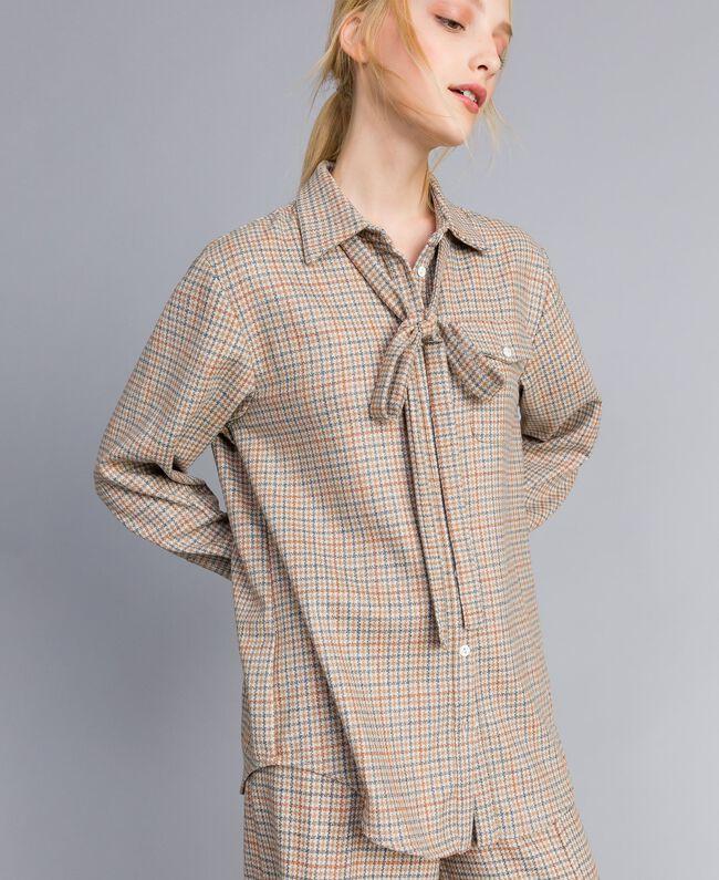 Camicia in flanella a fantasia Multicolor Quadri Donna TA8215-03
