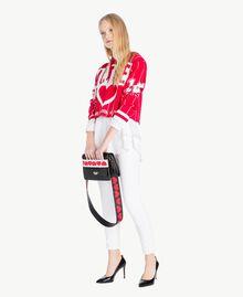 Bluse mit Schleife Weiß Frau JS82DE-05