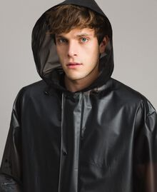 Hood raincoat with logo Black Man 191UT2040-05