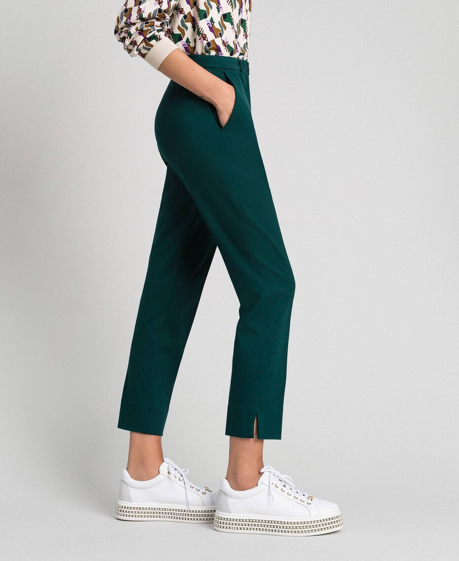 Pantaloni a sigaretta Verde Dark Donna 192TP2091-01