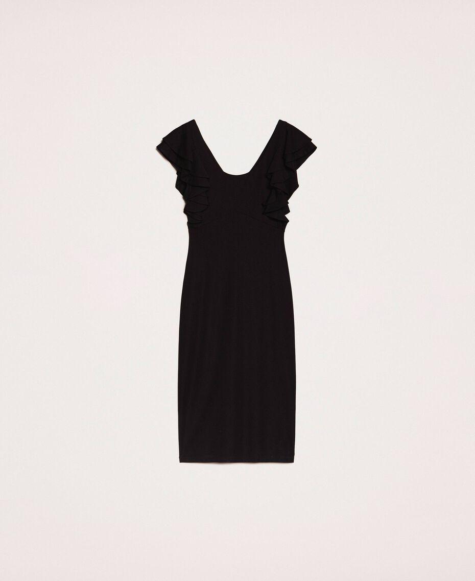 Sheath dress with frills Black Woman 201ST2149-0S