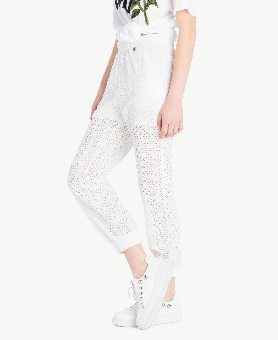 Broderie anglaise trousers Off White Woman YS82CF-02