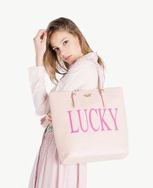 "TWINSET Tasche aus Lederimitat ""Lucky""-Print Fleischrosa Frau RS8TF2-05"