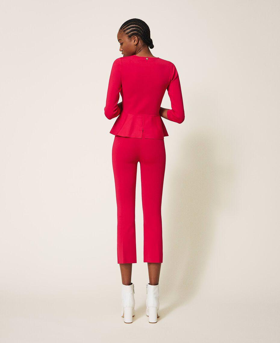 """Трикотажные брюки фуксия """"светлая вишня"""" женщина 202MP3104-02"""