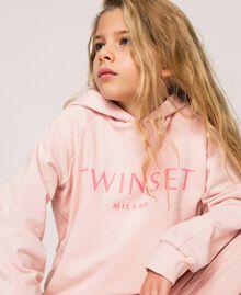 Толстовка с капюшоном и логотипом Принт Twinset Milano / Розовый Светлый Pебенок 201GJ2373-04