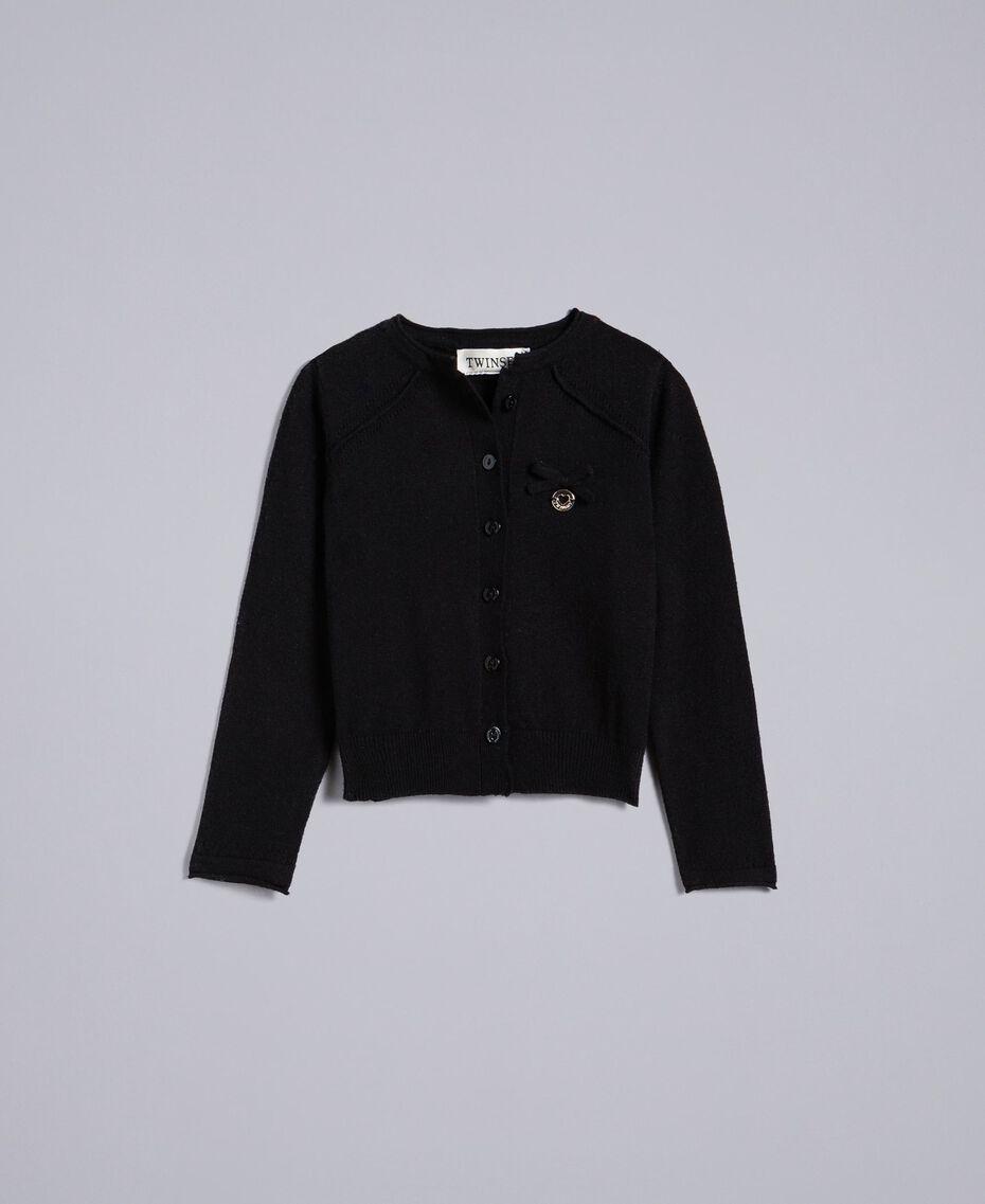 Рубашка из вискозы с воротником-стойкой Черный Pебенок FCN3AB-01