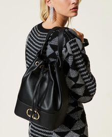 Bucket bag with logo Black Woman 212TB7092-0S