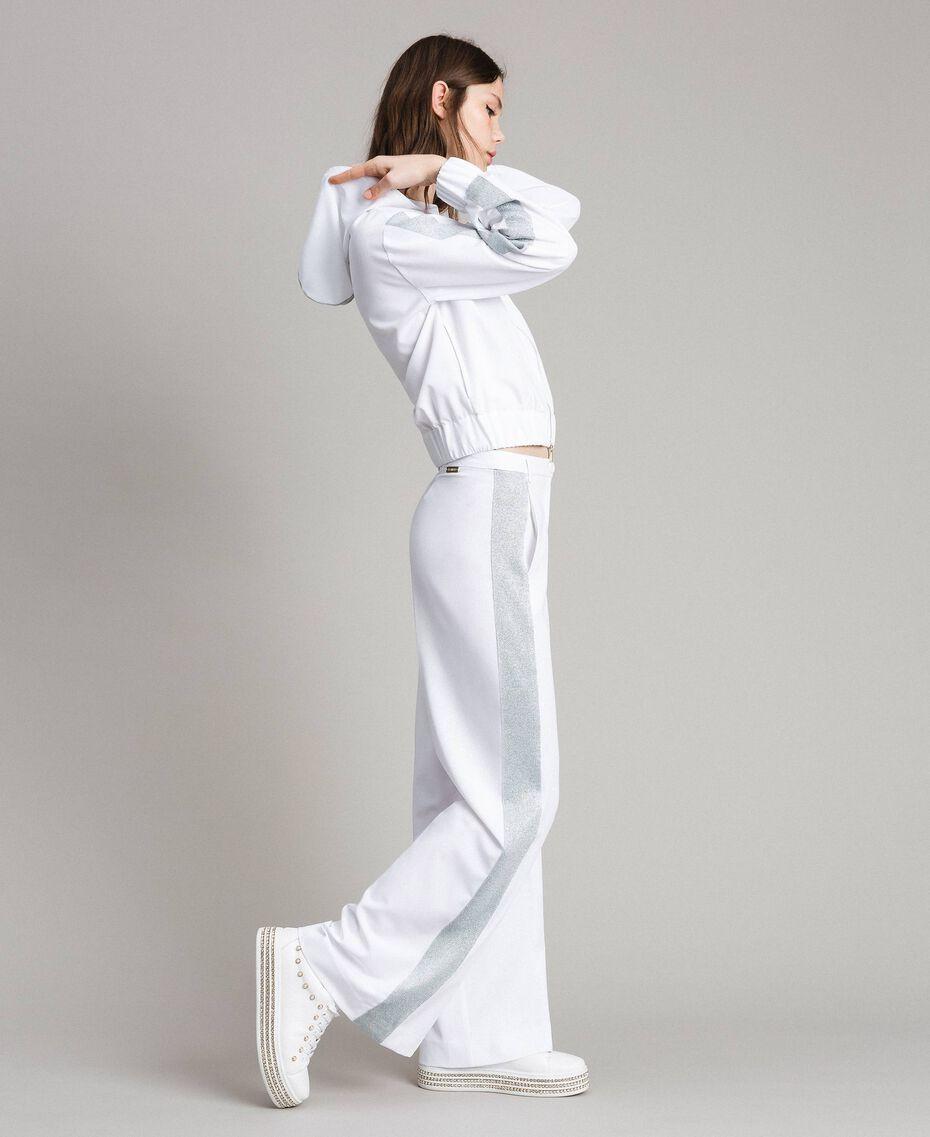 Sweatshirt with hood and zip White Woman 191LL25CC-02