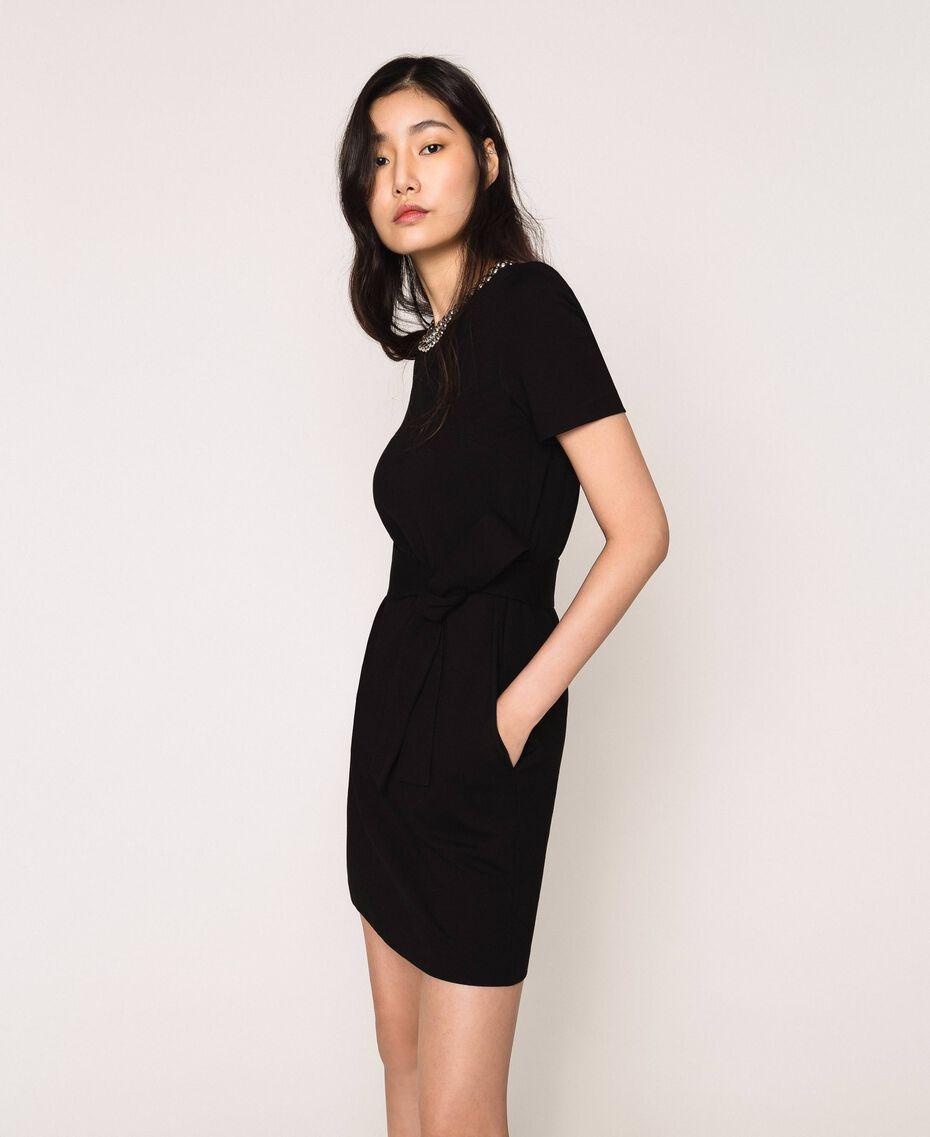 Dress with studs Black Woman 201MP2211-02