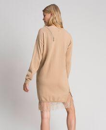 Maxi pull en cachemire mélangé Camel Femme 192TT3090-04