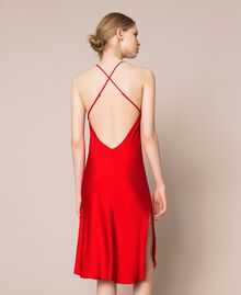 Satin slip Pomegranate Red Woman 201LL23YY-03
