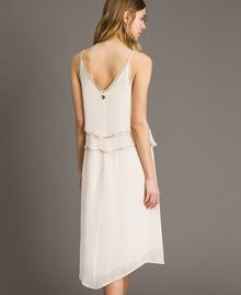 """Crepon embroidered dress """"Milkway"""" Beige Woman 191LB21BB-03"""