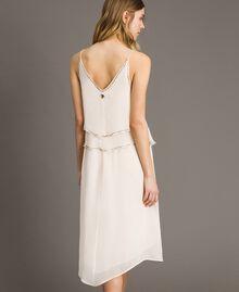 """Crepon besticktes Kleid """"Milkway"""" Beige Frau 191LB21BB-03"""