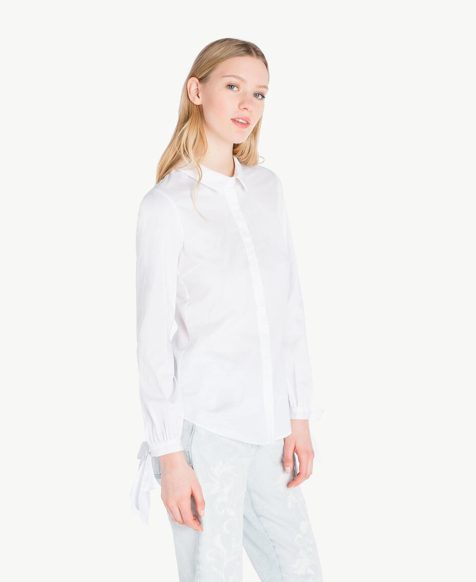 Bow shirt White Woman JS82DF-02
