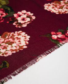 Dress with floral print and logo Beet Red Geranium Print Woman 192TA440G-02