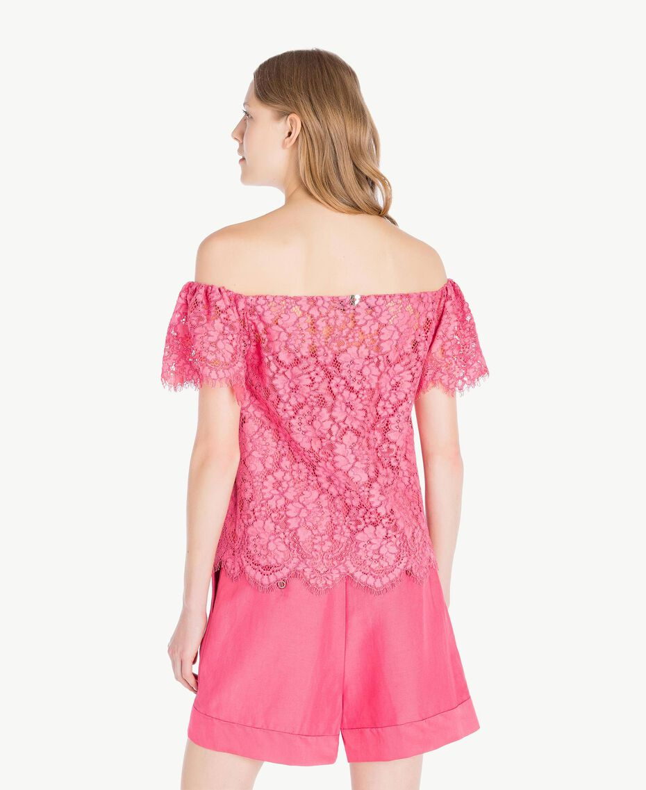 Top pizzo Provocateur Pink Donna TS828S-03