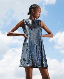 Платье, полностью украшенное пайетками Серый Оружейный ствол женщина 202ST2140-01