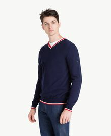 Pullover aus Baumwolle Blackout Blau Mann US831P-02