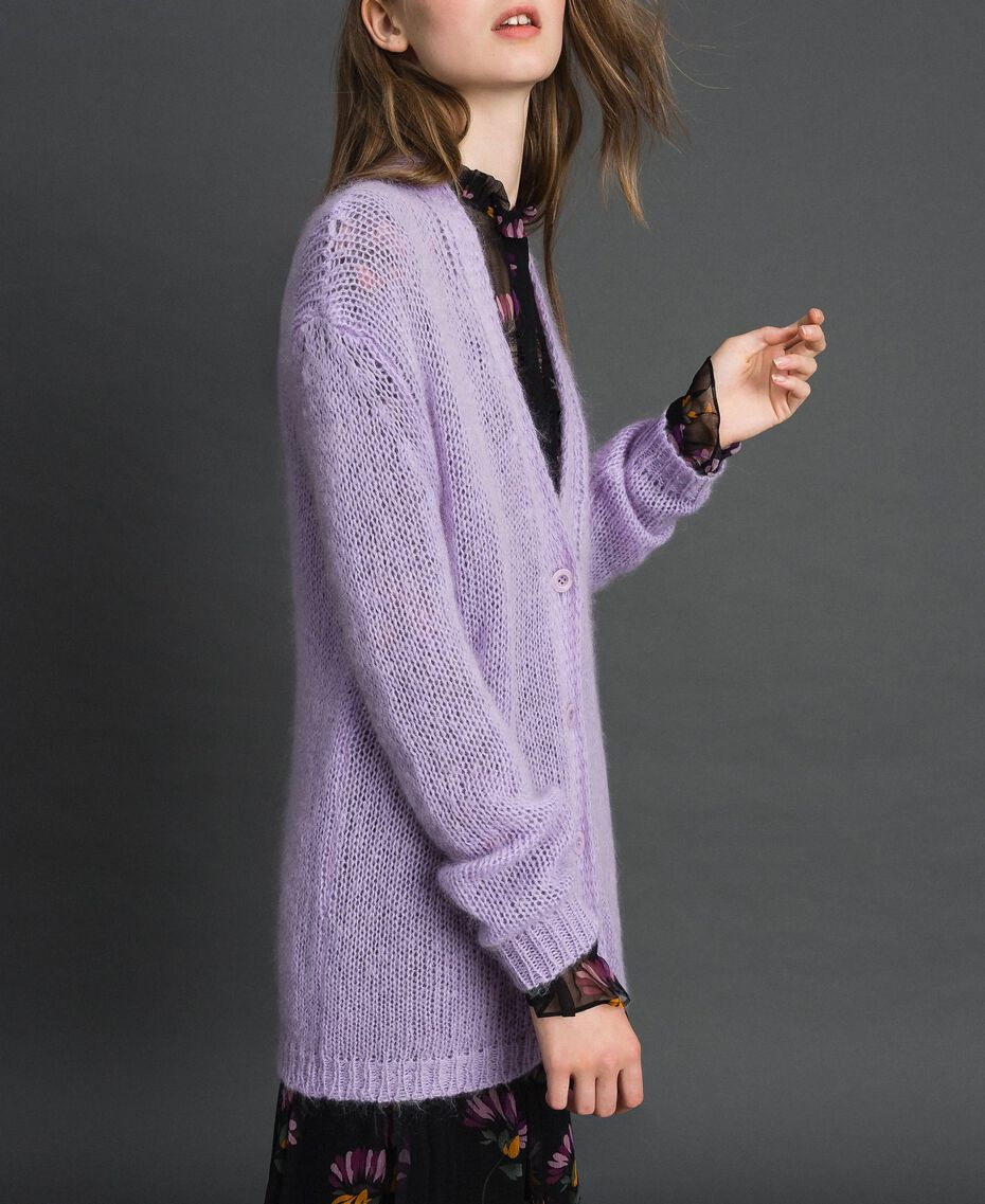 """Cardigan in mohair Rosa """"Pink Lavender"""" Donna 192TT3270-02"""