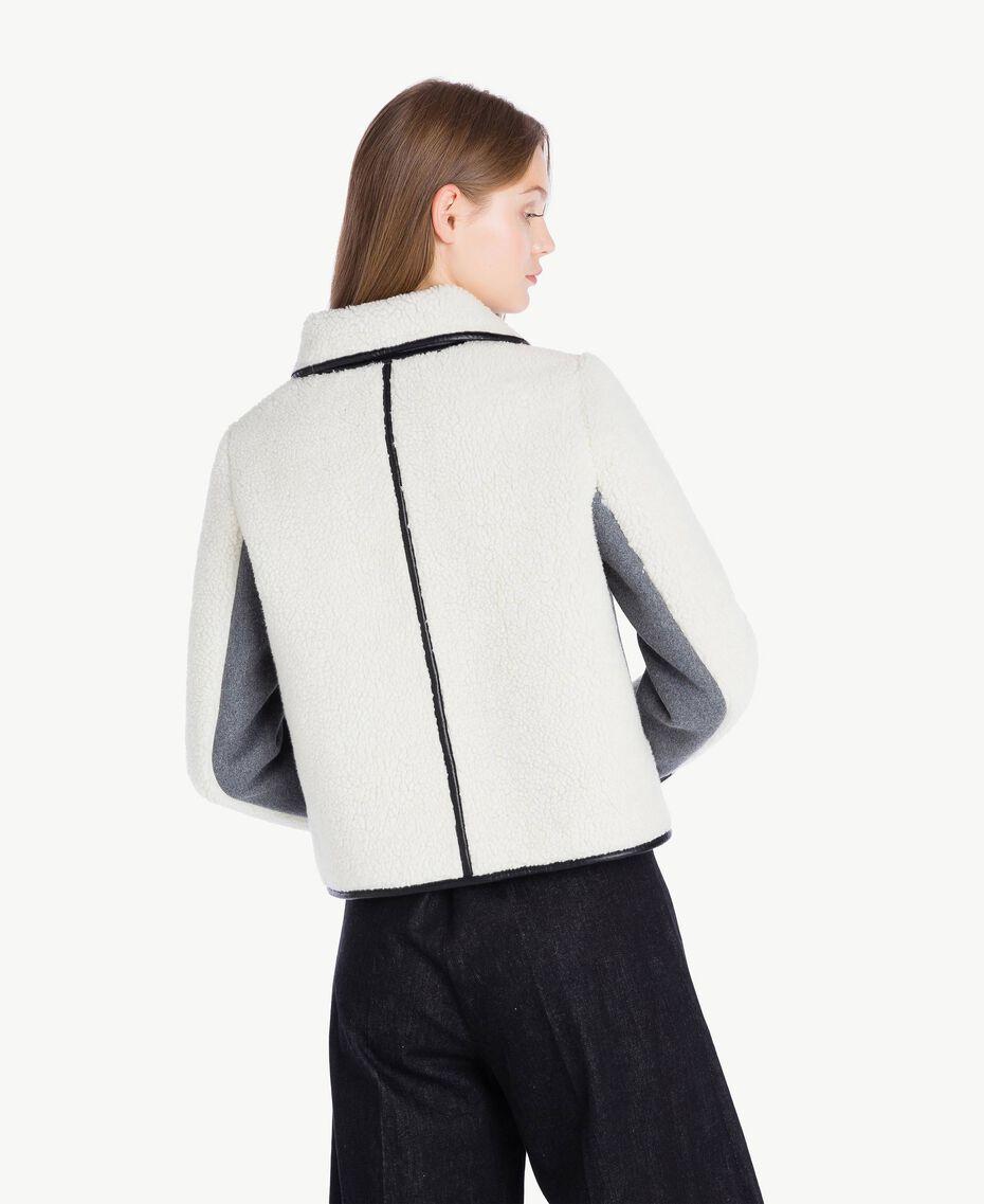 Veste faux mouton Gris Mélangé YA72A2-03
