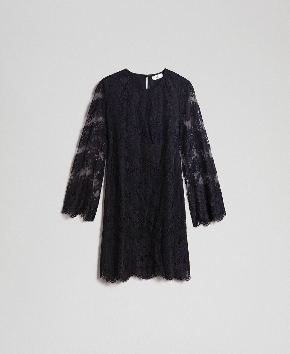 Robe courte en dentelle Noir Femme 192LI21EE-0S