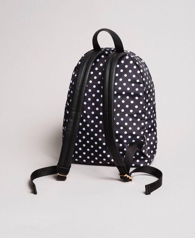 Technical fabric polka dot backpack White / Black Polka Dot Print Woman 191MA7122-04