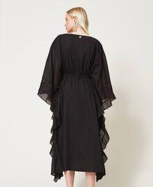 Marrakech muslin long dress with embroidery Black Woman 211TT2704-04