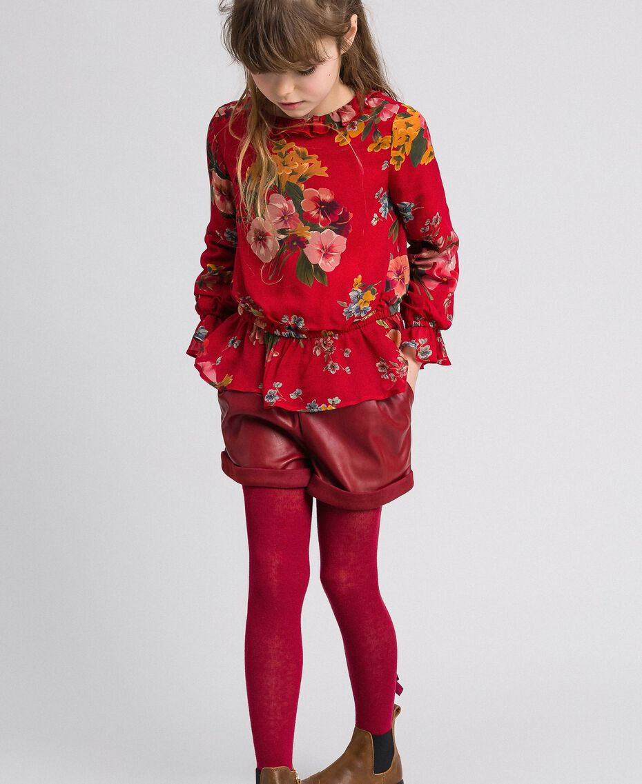 Floral print georgette blouse Pomegranate Meadow Print Child 192GJ2591-01
