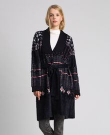 Jacquard knit coat Black Woman 192MT3210-02