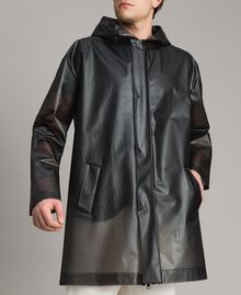 Hood raincoat with logo Black Man 191UT2040-04