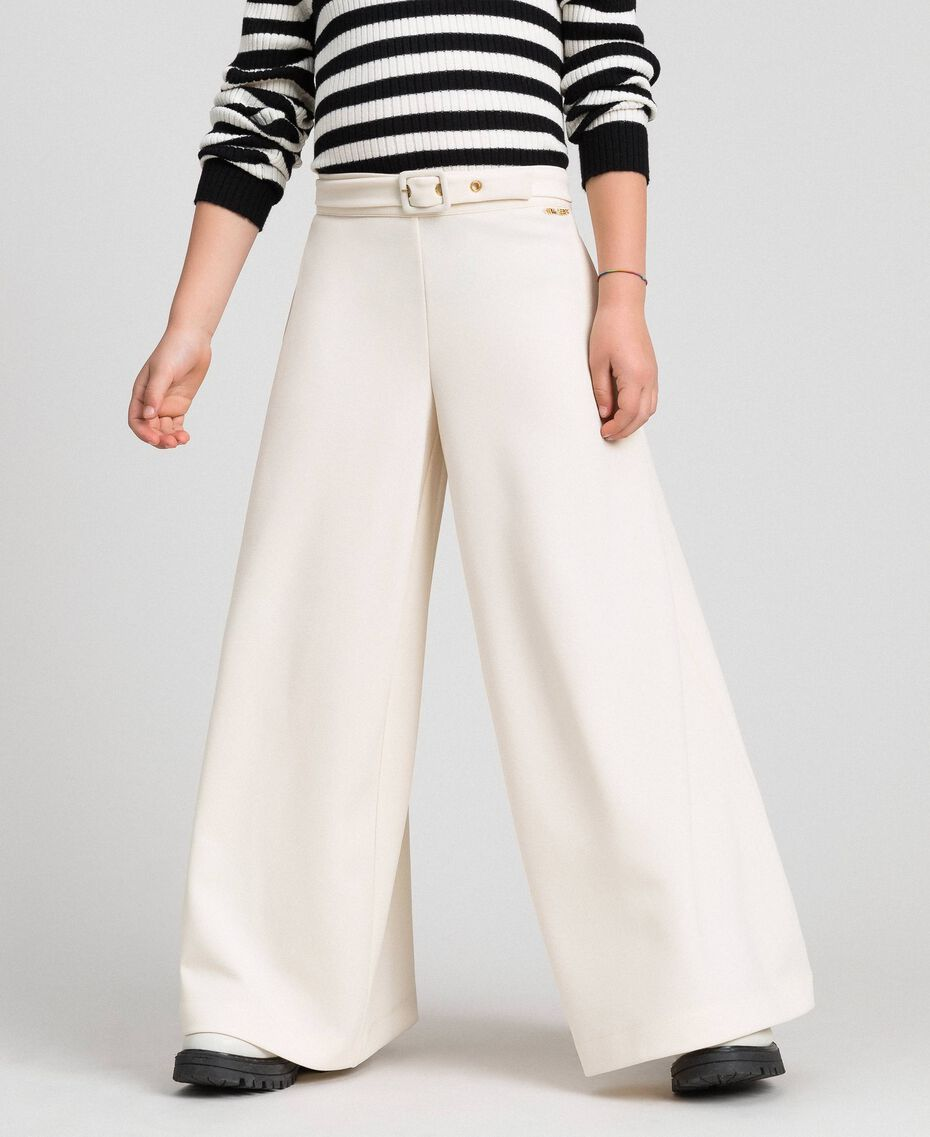 Pantalon palazzo avec ceinture Avoine Enfant 192GJ2451-02