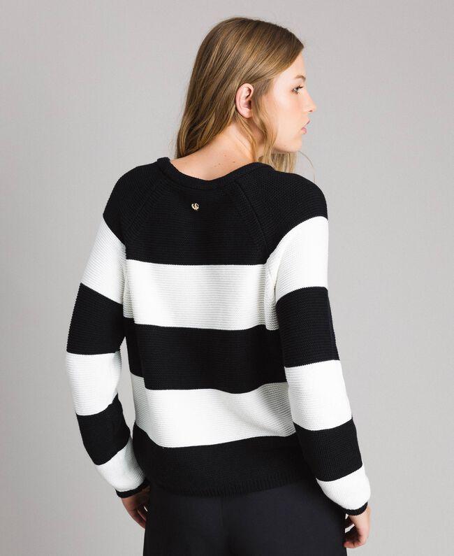 Striped top with heart detail Multicolour Pastel Colour Woman 191MP3011-03