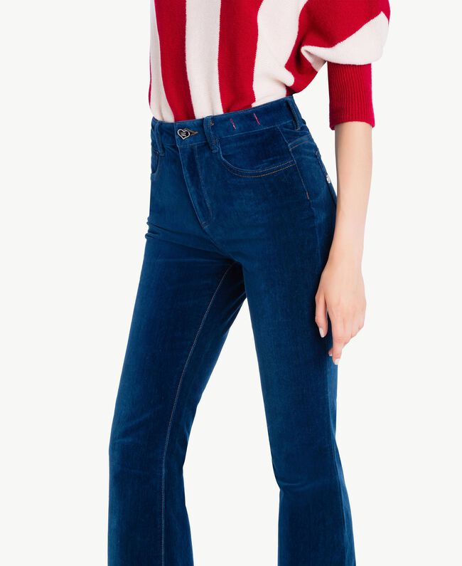 Bell-Bottom-Jeans Nachtblau YA72WW-04