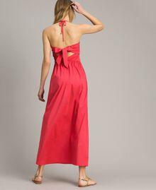 """Robe longue en popeline """"Jus d'Orange"""" Femme 191LM2CHH-04"""