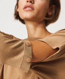 """Knit dress with removable sleeves """"Dune"""" Beige Woman 202MP3032-03"""