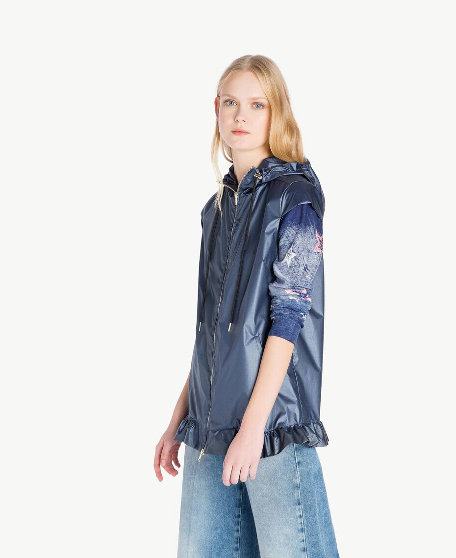 Ruffled jacket Dallas Blue Woman JS821C-02