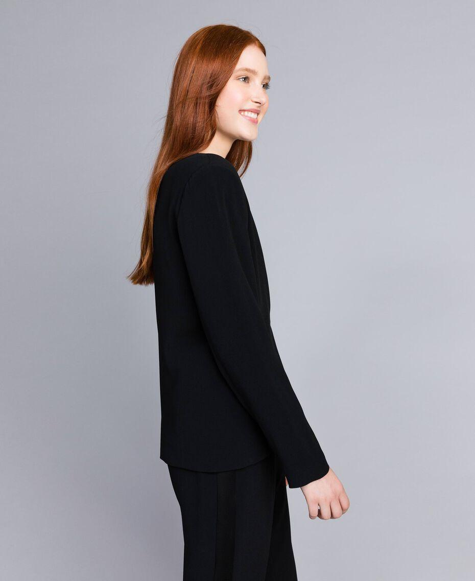 Envers satin tuxedo jacket Black Woman QA8TGN-02