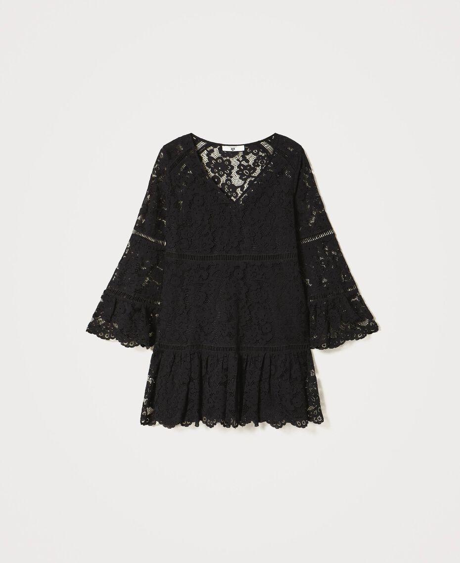 Robe en dentelle macramé Noir Femme 211LM2KJJ-0S