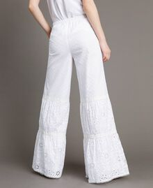 Broderie anglaise trousers with drawstring White Woman 191MT2034-03