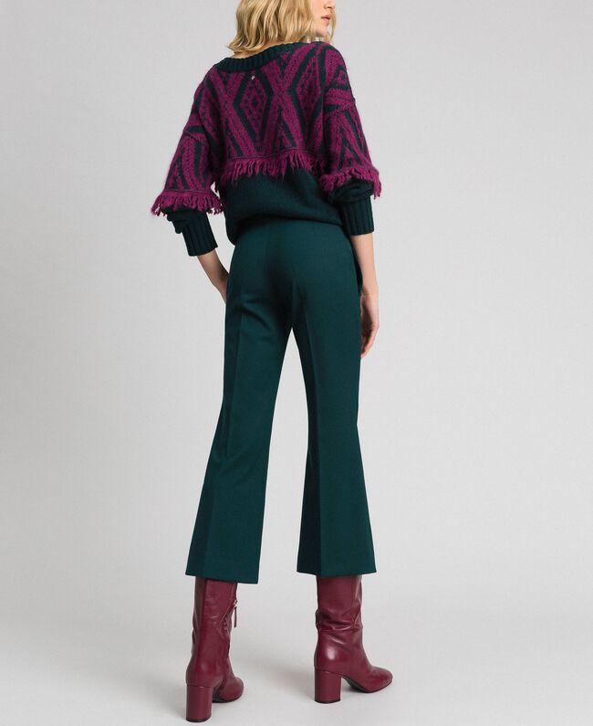 Pantaloni flare in lana Verde Dark Donna 192TP2353-03