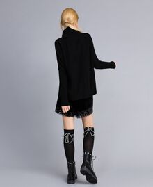 Chaussettes en lurex avec nœud Noir Femme OA8T3M-0S